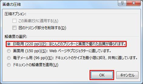 エクセル pdf オプション設定